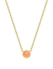 Iris Necklace - Gold/Coral - ORANGE