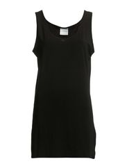 LUCKY LONG TANK TOP -S - Black