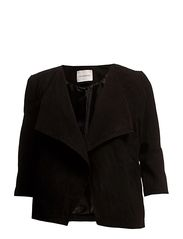 TOM 3/4 SLEEVE SUEDE JACKET -K - Black