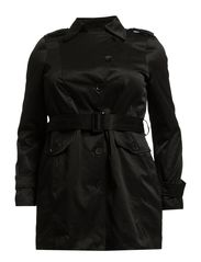 ALABABA L/S TRENCH COAT - S - Black