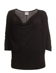 JUST 3/4 SLEEVE TOP - S - Black