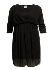 LEAH 3/4 SLEEVE ABOVE KNEE DRESS - K - Black