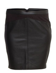 SANNE PU SKIRT - K - Black