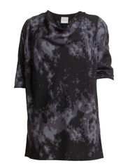 NORA 3/4 SLEEVE TUNIC -K - Black