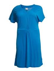 LUNA SS ABOVE KNEE DRESS - S - Brilliant Blue