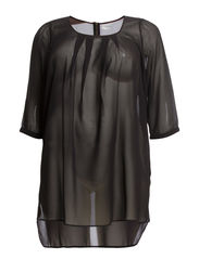 ROY 3/4 SLEEVE TUNIC 6 -K - Black
