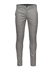 Cotton viscose club pants - GREY MEL