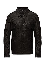 Type 2 leather jacket - BLACK