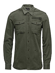 Washed military shirt - ARMY