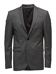 Wool suiting blazer - GREY MEL