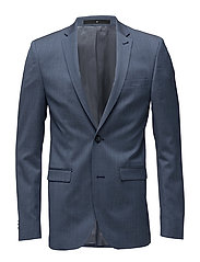 Wool suiting blazer - NAVY MEL