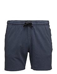 Washed sweat shorts - DRESS BLUE