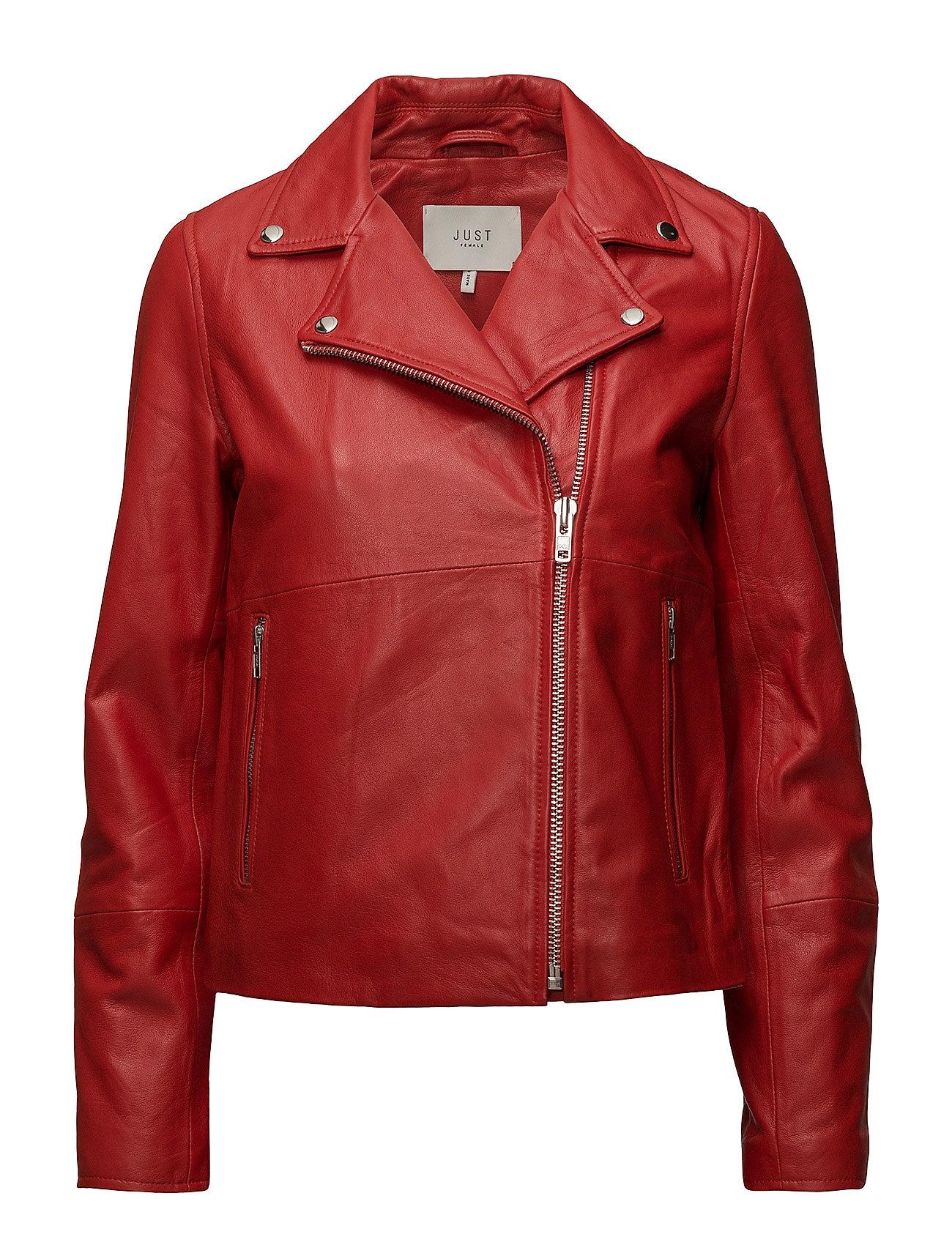 Just Female Sabine leather jacket