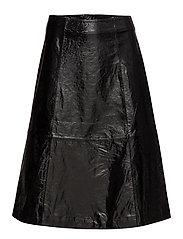 Patent leather skirt - BLACK