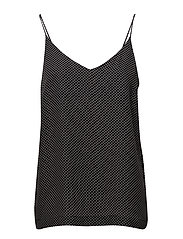 Hiro singlet - BLACK MINI DOT