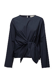 Ady ls blouse - STORMY BLUE