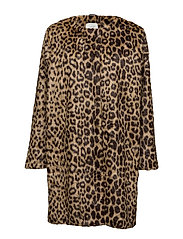 Leo fake fur coat - LEOPARD