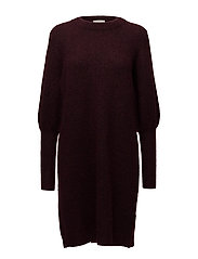 Chiba lurex dress - DEEP GRAPE