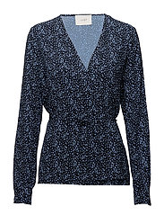 Ellen blouse - Satori blue aop