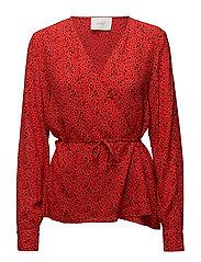 Ellen blouse - Satori red aop