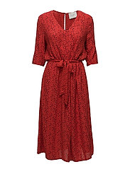 Ellen long dress - Satori red aop