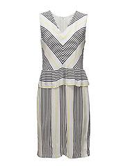 Rita dress - Light stripe aop
