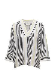 Rita blouse - Light stripe aop