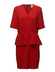 Maude dress - Aurora red