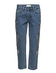 Flower rock jeans - Light blue denim