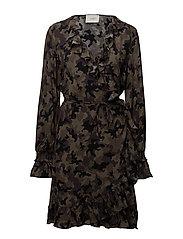 Naila wrap dress - CAMOUFLAGE