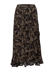 Naila maxi skirt - CAMOUFLAGE