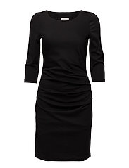 India dress 3/4 sleeve - BLACK DEEP