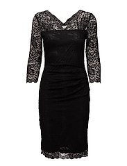 Claudia lace dress - BLACK DEEP