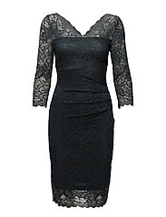 Claudia lace dress - GREEN GRAPHITE