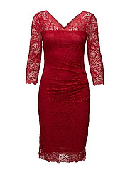 Claudia lace dress - HAUTE RED