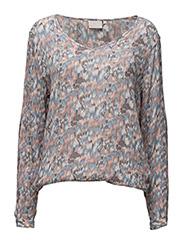 Lora Amber blouse- MIN 2 - DUSTY SKY