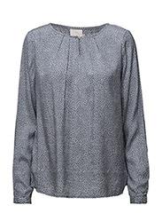 Pasha dot blouse- MIN 2 - FLINT STONE / 50003 CHALK