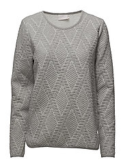 Gillis sweat shirt - GREY MELANGE