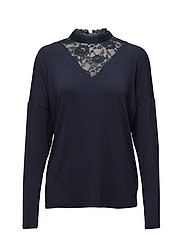 Dahlia blouse - MIDNIGHT MARINE