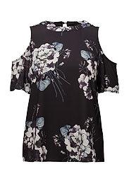 Silja blouse - BLACK DEEP
