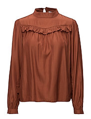 Freja blouse - BURNT HENNA