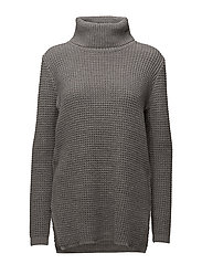 Mary Knit Pullover - GREY MELANGE