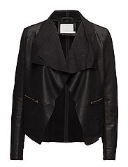 Bernadetta leather jacket- MIN 4 pc - BLACK DEEP