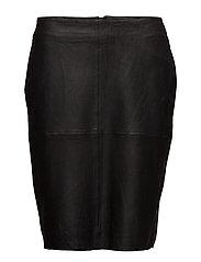 Bernadetta Leather Skirt- MIN 4 pcs - BLACK DEEP
