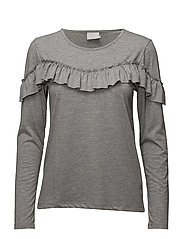 Simmi T-shirt - LIGHT GREY MELANGE
