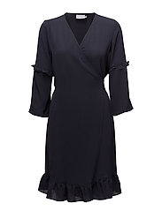 Amilla wrap around dress - MIDNIGHT MARINE