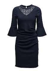 Neel India dress - MIDNIGHT MARINE