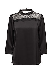 Maddy blouse- MIN 2 - BLACK DEEP