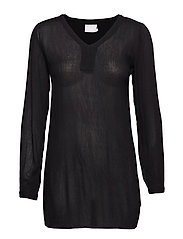 Amber V-Neck Tunic- MIN16 pcs. - BLACK DEEP