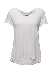 Anna V-Neck T-Shirt- MIN 16 pcs. - OPTICAL WHITE